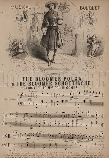 The Bloomer Polka. Music cover.