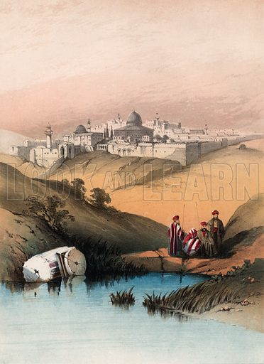 Jerusalem from the valley of Jeosophat. Music cover.