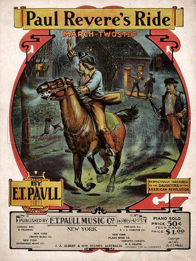 Paul Revere's Ride. Music cover.