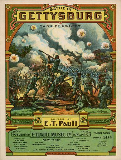 Battle Of Gettysburg. Music cover.