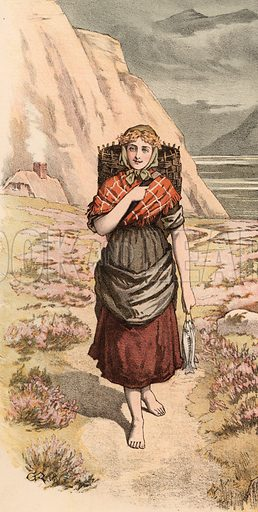 Highland lass. Detail for music cover.