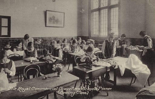 The Royal Commercial Travellers' Schools, Pinner, Sewing Class