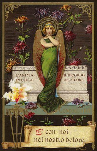 Sympathy card.  Postcard, early 20th century.