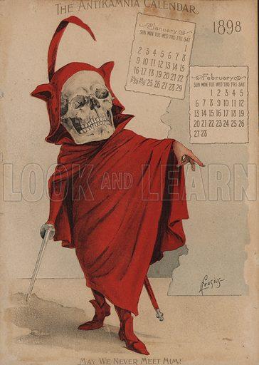 Mephistopholes, Illustration for Antikamnia Calendar, 1898