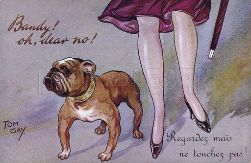 Bandy! Oh dear, no! Postcard, early 20th century.