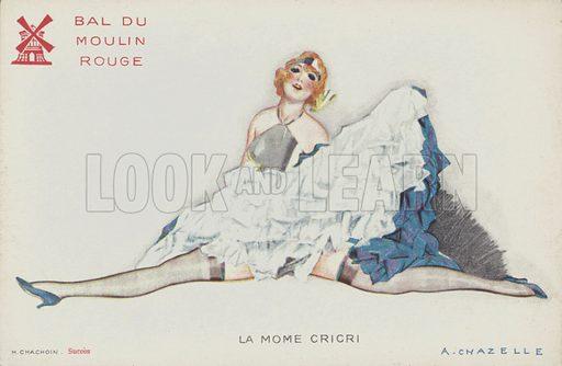 Cancan dancer of the Moulin Rouge, Paris