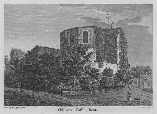 Chilham Castle, Kent. Engraving from unidentified book.