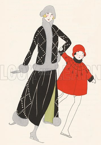 Skating outfits from the 1920s