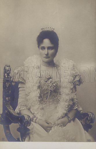 Alexandra Feodorovna, Empress of Russia (1872-1918). Postcard.