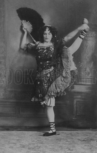 Dancer or music hall artiste, possibly Bealtis Melton
