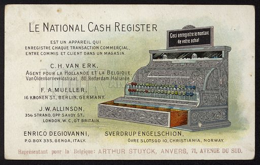 Advertisement for Le National cash register.