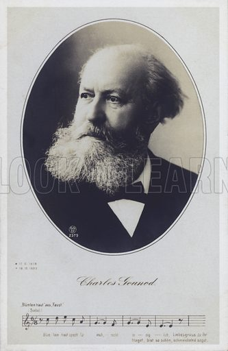 Charles Gounod, (1818-1893), French pianist and composer.