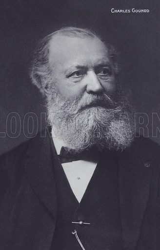 Charles Gounod, (1818–1893), French pianist and composer.