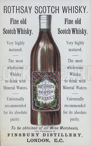 Advertisement for Rothsay Scotch Whisky