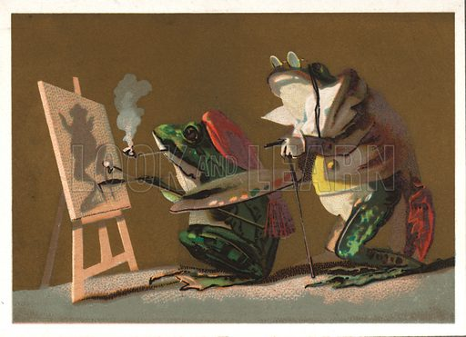 Artistic frogs