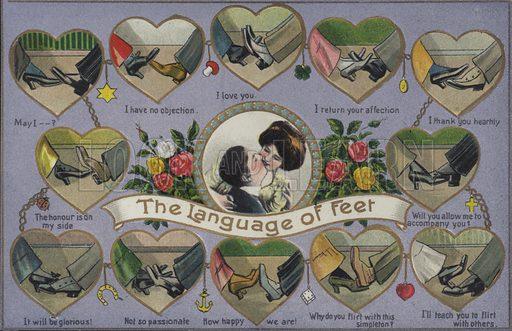 The language of feet, flirting by playing footsie