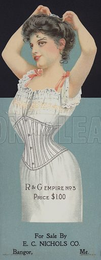 Advertisement for R & G women's corsets.