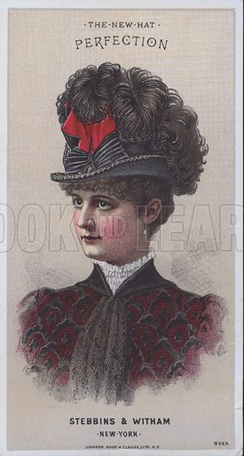 Advertisement for a hat from Stebbins & Witham, New York, USA.