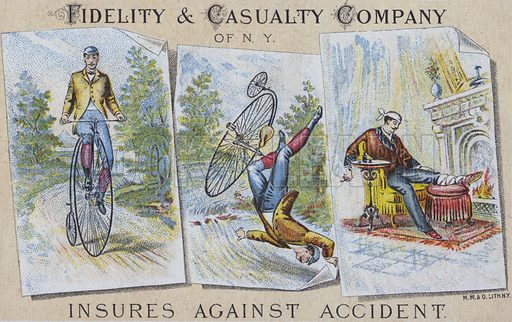 Advertisement for the Fidelity and Casualty Insurance Company, New York, USA.