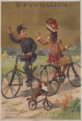 Cycling scene.