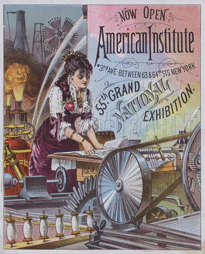 55th Grand National Exhibition, American Institute, New York, USA, 1886.