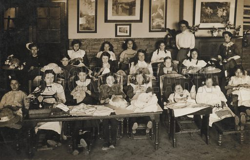 Group of children, possibly in an orphanage.