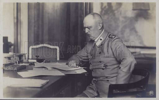 Erich Ludendorff (1865-1937), German general of the First World War. Postcard, early 20th Century.