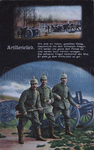 Artillery song: German army artillery. Postcard, early 20th Century.