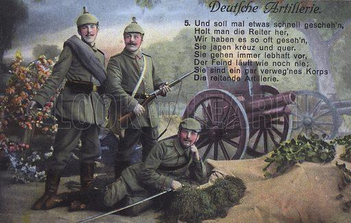 German artillery. Postcard, early 20th Century.