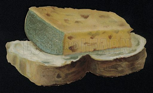 Bread and cheese shaped greetings card