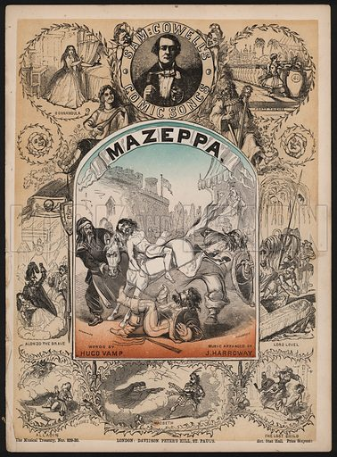 Mazeppa, one of Sam Cowell's Comic Songs.  Music cover, 19th century.