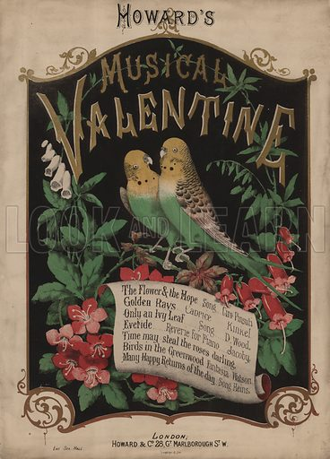Howard's Musical Valentine.  Music cover, 19th century.