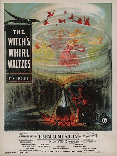 The Witch's Whirl Waltzes.  Music cover, early 20th century.