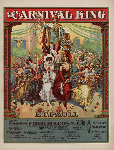 The Carnival King.  Music cover, early 20th century.