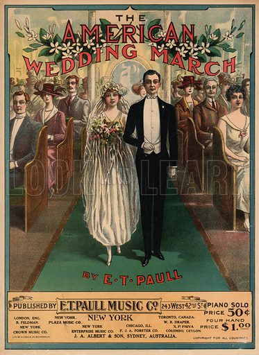 The American Wedding March.  Music cover, early 20th century.