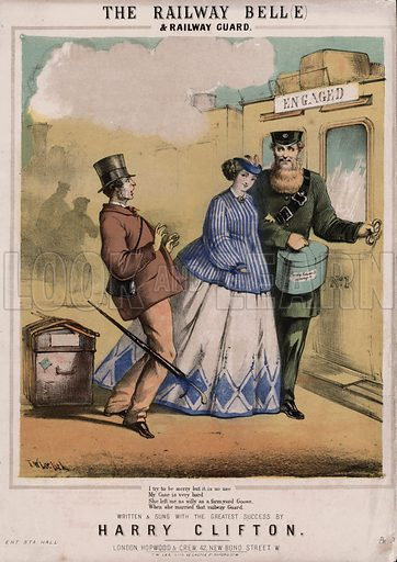 The Railway Belle and Railway Guard.  Music cover, 19th century.