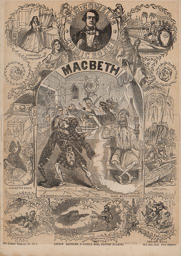 Macbeth, one of Sam Cowell's comic songs.  Music cover. 19th century.