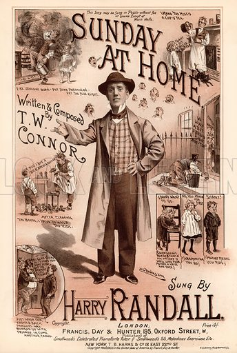 Sunday at Home.  Music cover, 19th century.