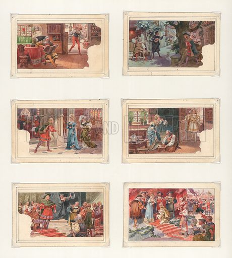 Wagner, Die Meistersinger.  Original artwork for a set of Liebig cards.  Late 19th or early 20th century.