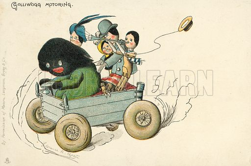 Golliwog motoring, a character created by Florence K Upton in a series of children