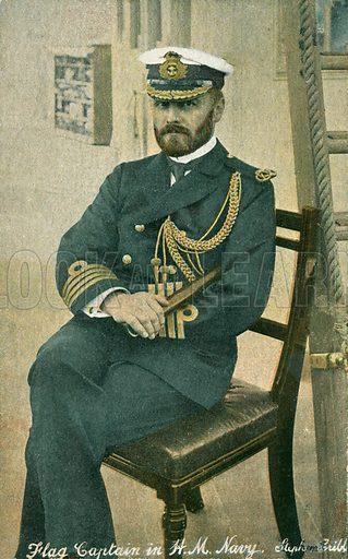 Stephen Cribb, Flag Captain in the British Royal Navy. Postcard, late 19th or early 20th century.