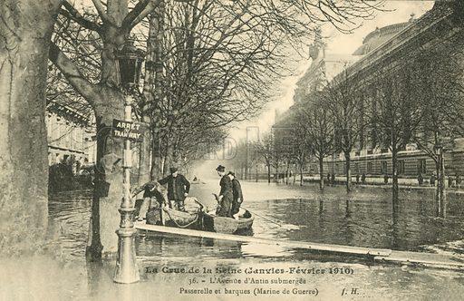 Rue de la Chaussée-d'Antin, flooding in Paris, January 1910