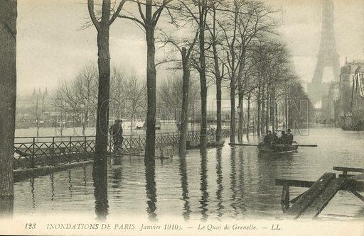 Quai de Grenelle, flooding in Paris, January 1910