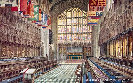 St George's Chapel at Windsor Castle, Berkshire. Postcard, late 19th or early 20th century.