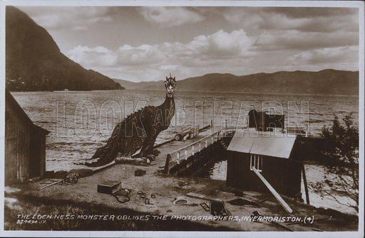 Loch Ness Monster at Invermoriston, Scotland