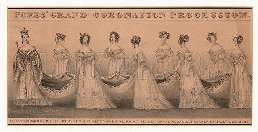 Coronation procession of Queen Victoria, London, 1838.