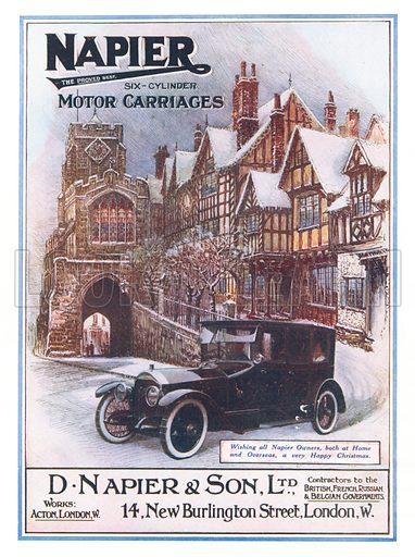 Advertisement for Napier motor cars, 1918.