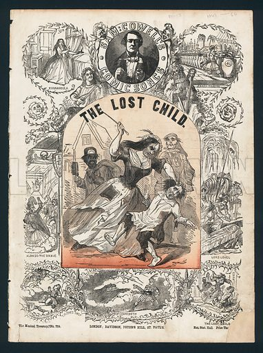The Lost Child, comic song by Sam Cowell, Victorian sheet music cover.