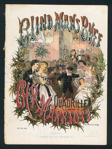 Blind Man's Buff, quadrille by CHR Marriott, Victorian sheet music cover