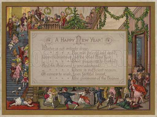 Happy New Year, greetings card, early 20th Century.